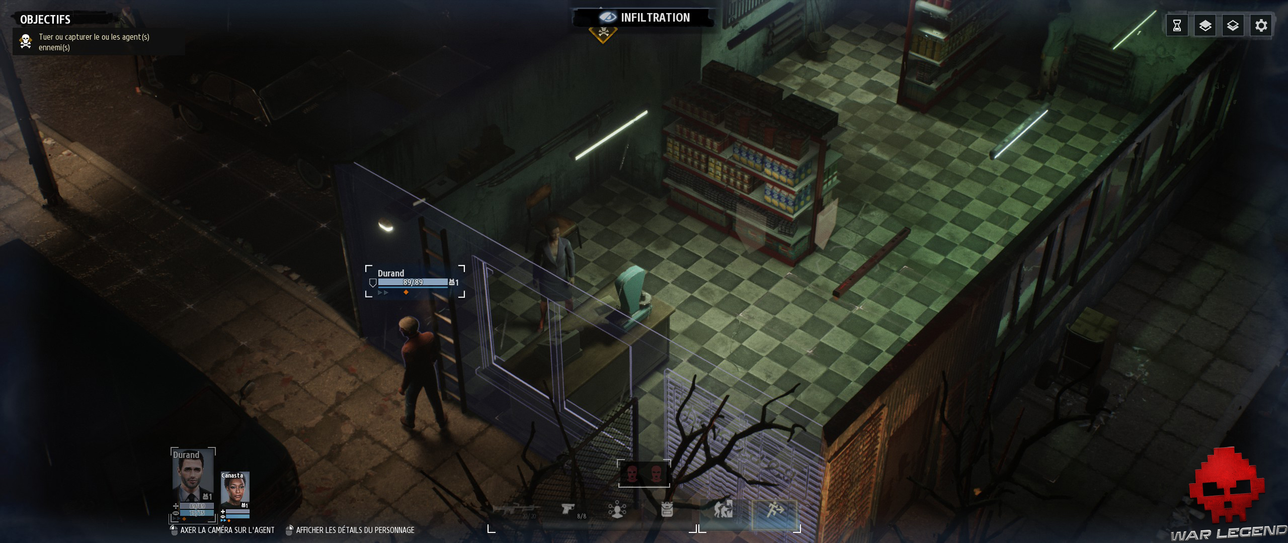Test Phantom Doctrine agent à l'extérieur d'un bâtiment