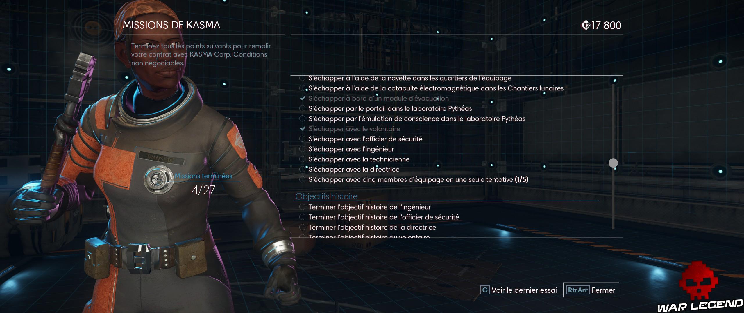 Test Prey Mooncrash missions de Kasma