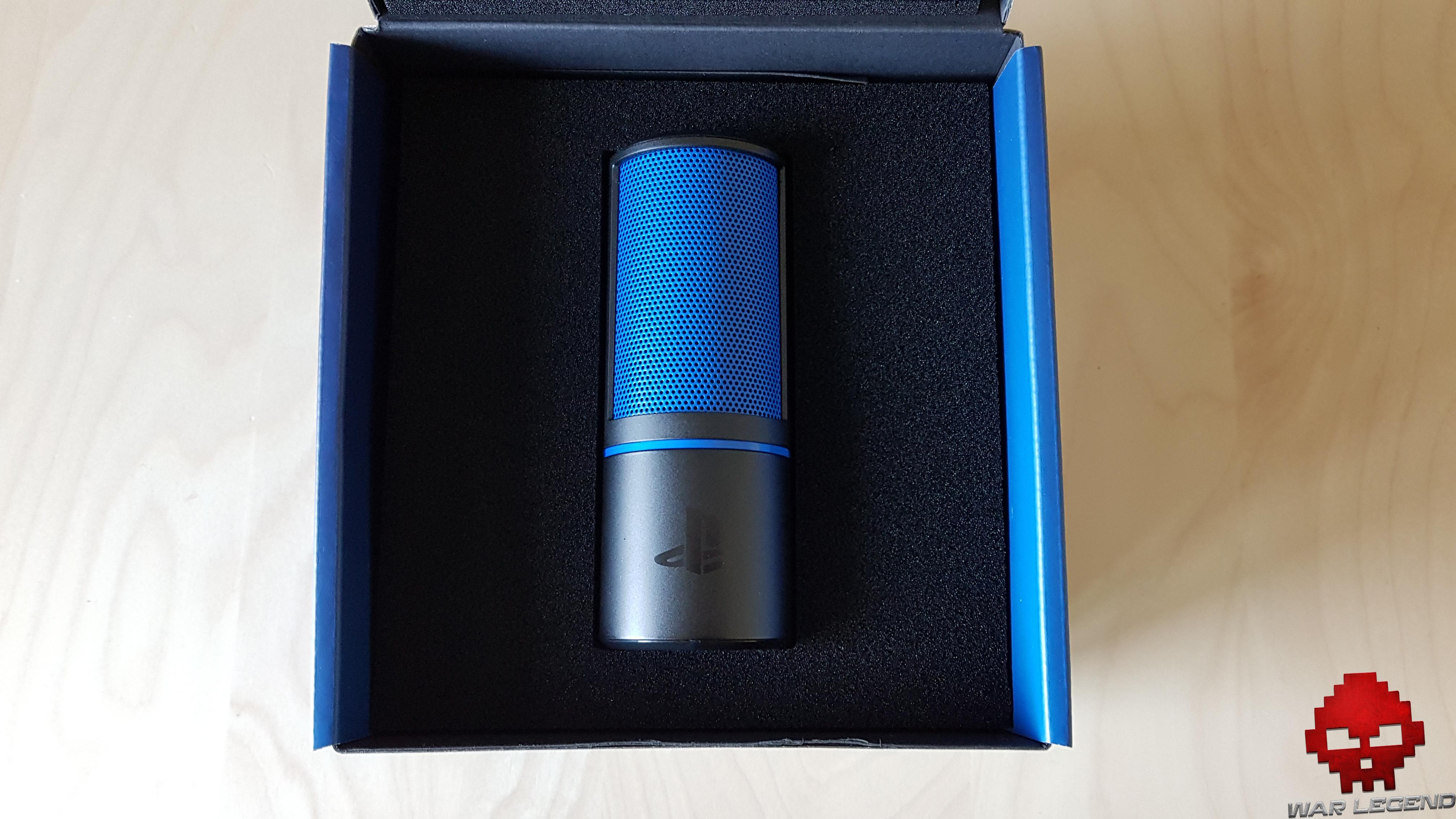 Test Razer Seiren X micro dans la boîte