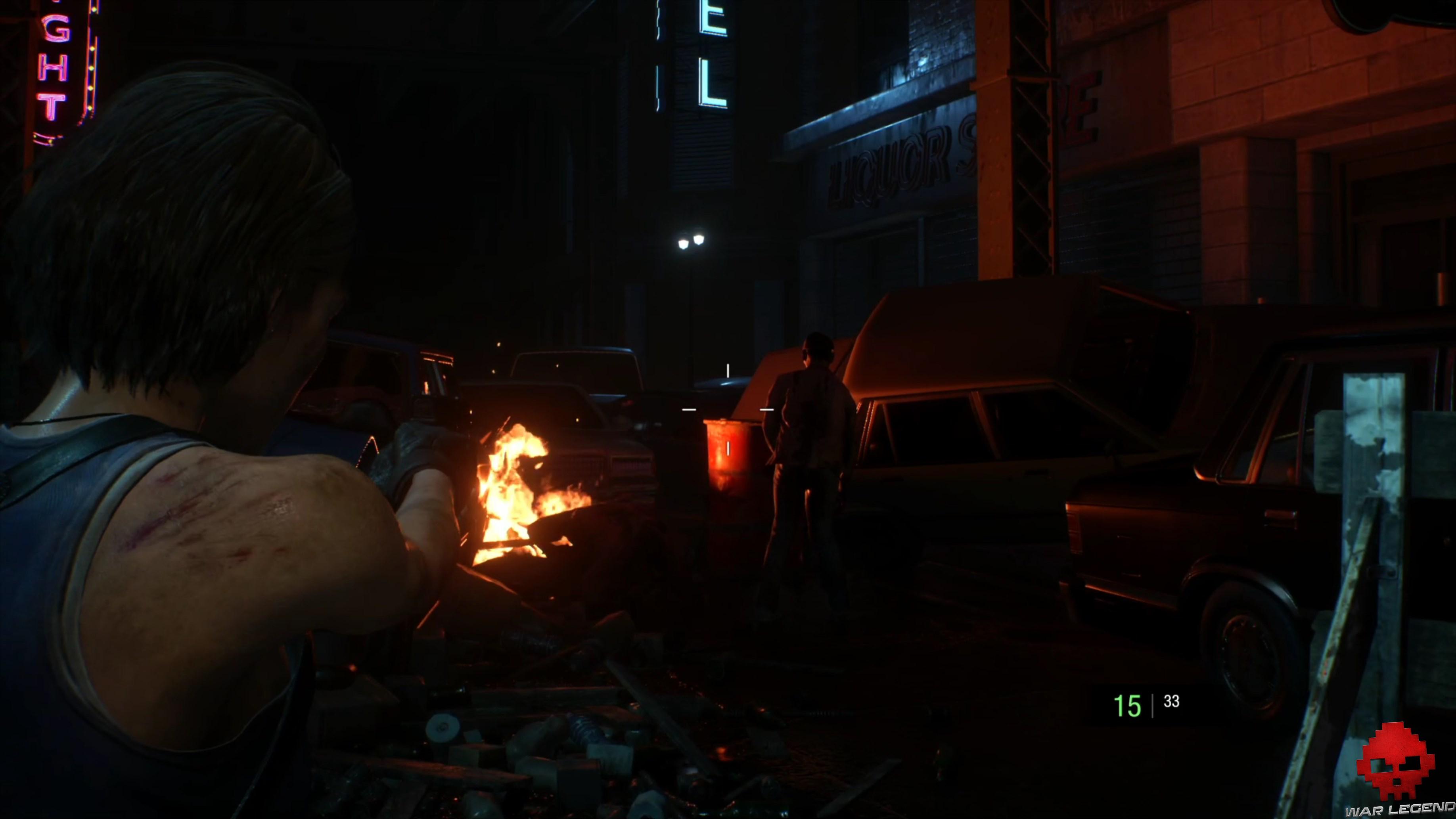 Test Resident Evil 3 - Baril explosif au milieu des zombies