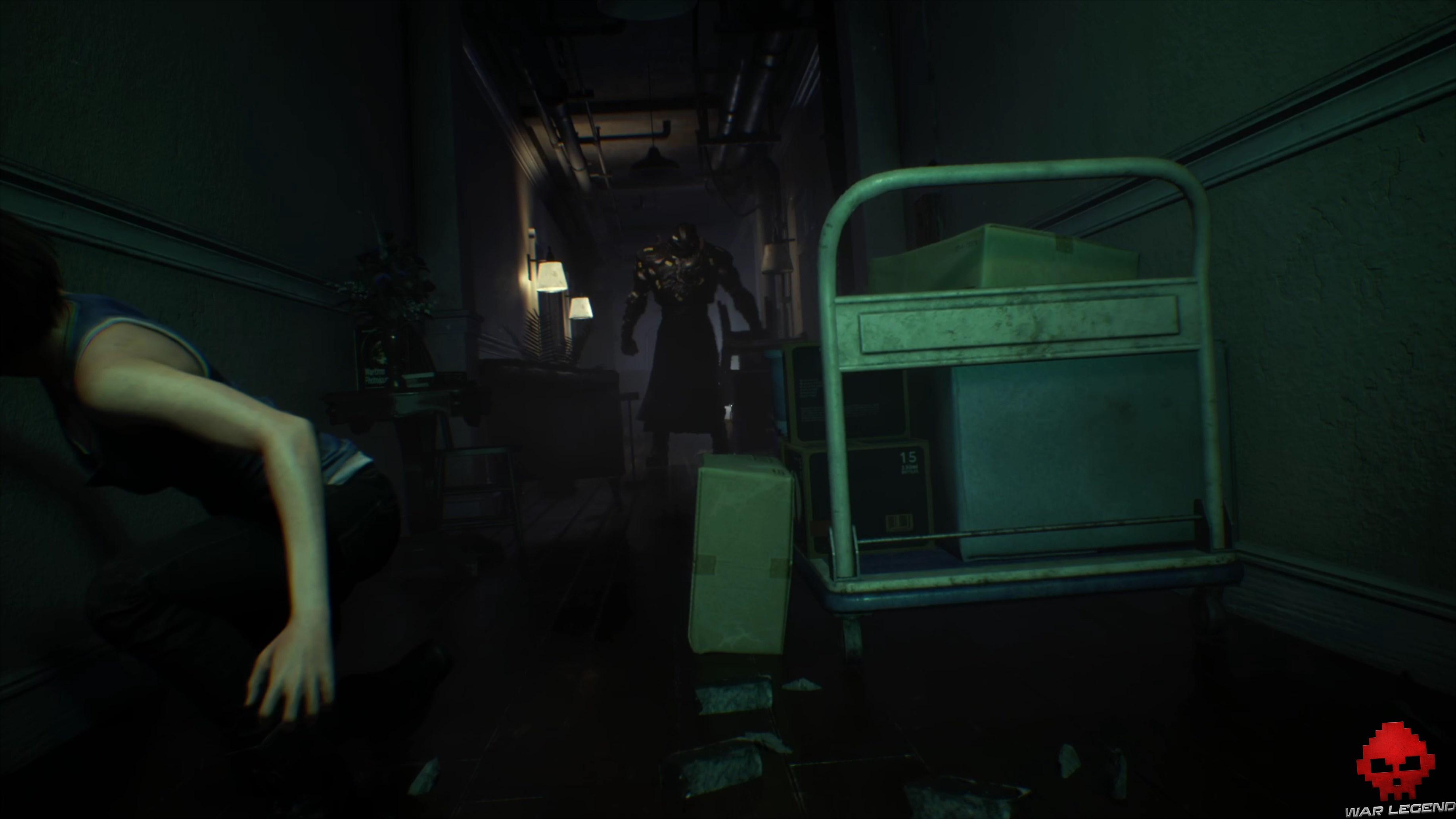 Test Resident Evil 3 - Nemesis dans un couloir