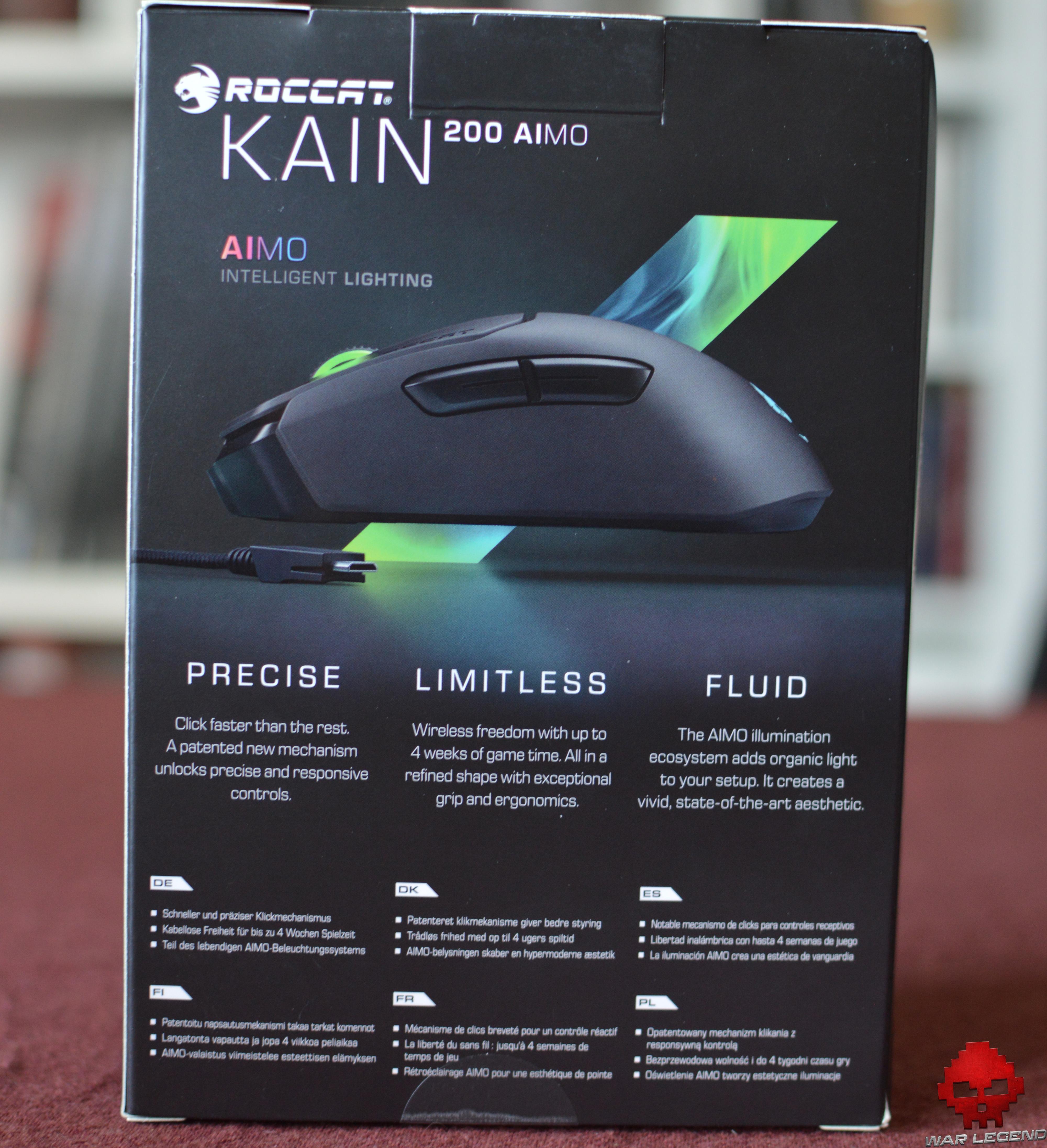 Test Roccat Kain AIMO 200 arrière boîte