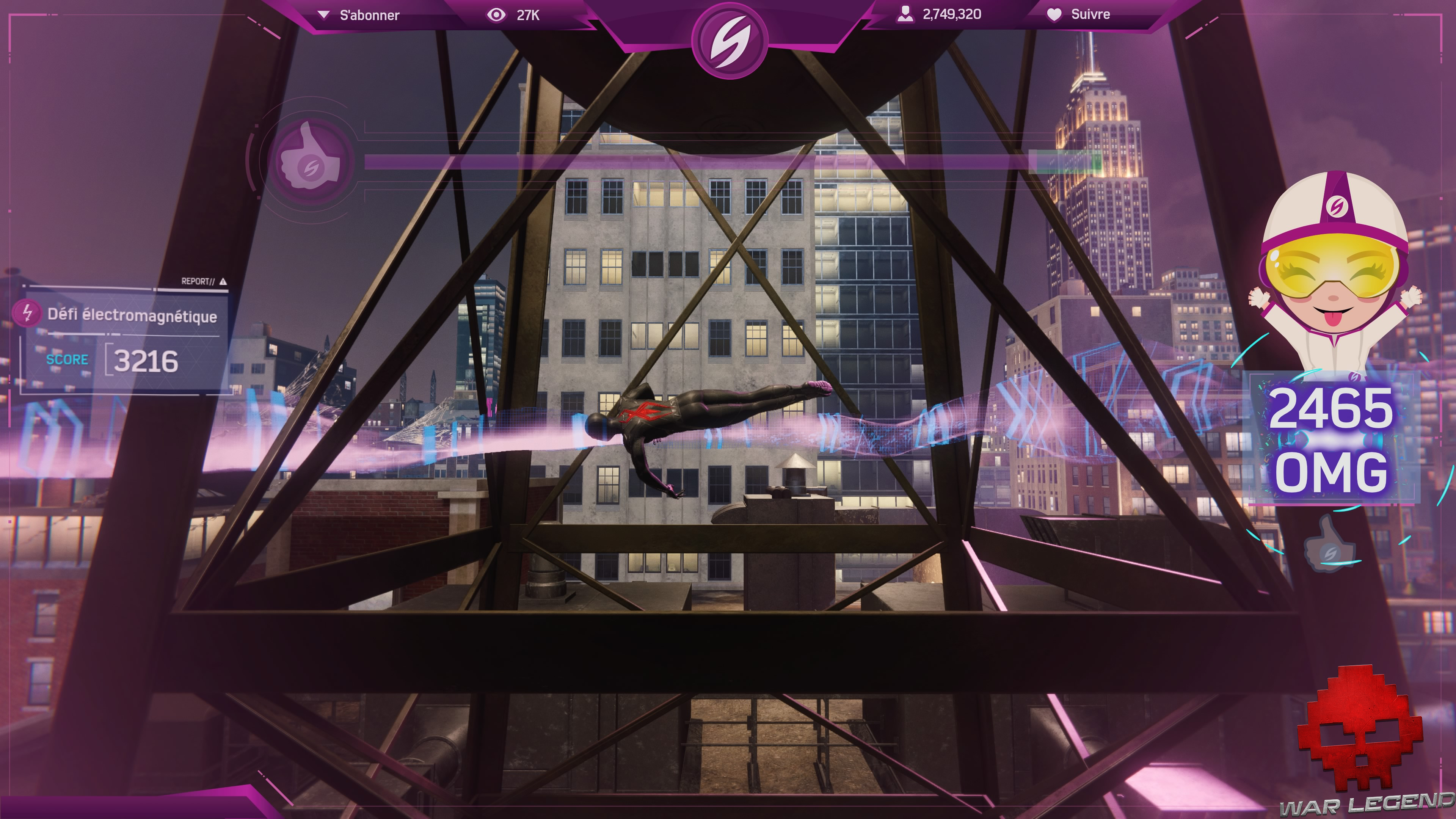 Test Spider-Man: Le Casse photo avec jauge OMG