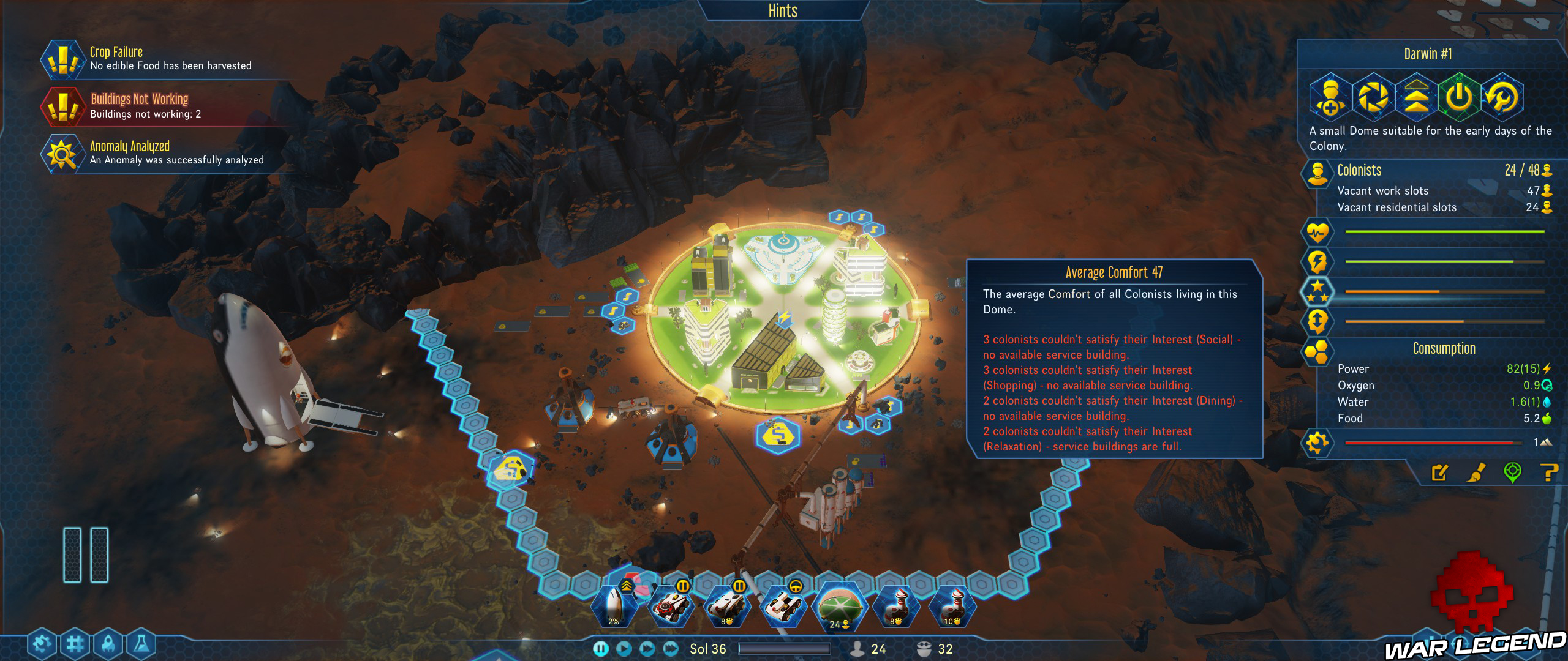 Guide Surviving Mars besoins colons