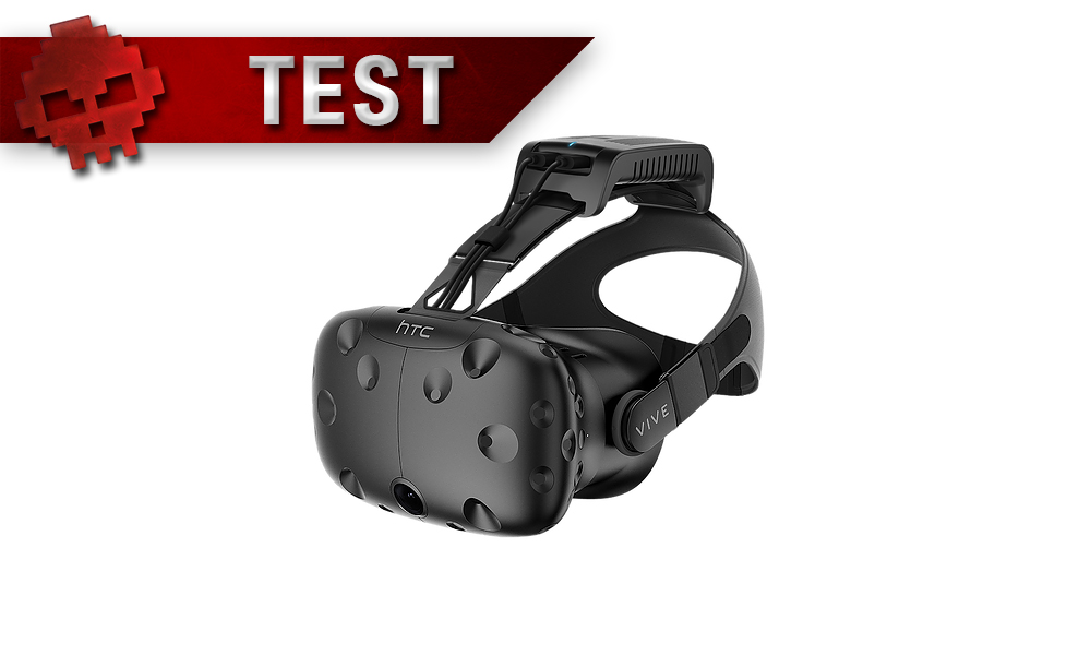 casque htc vive pourvu d'un tp cast, bandeau test
