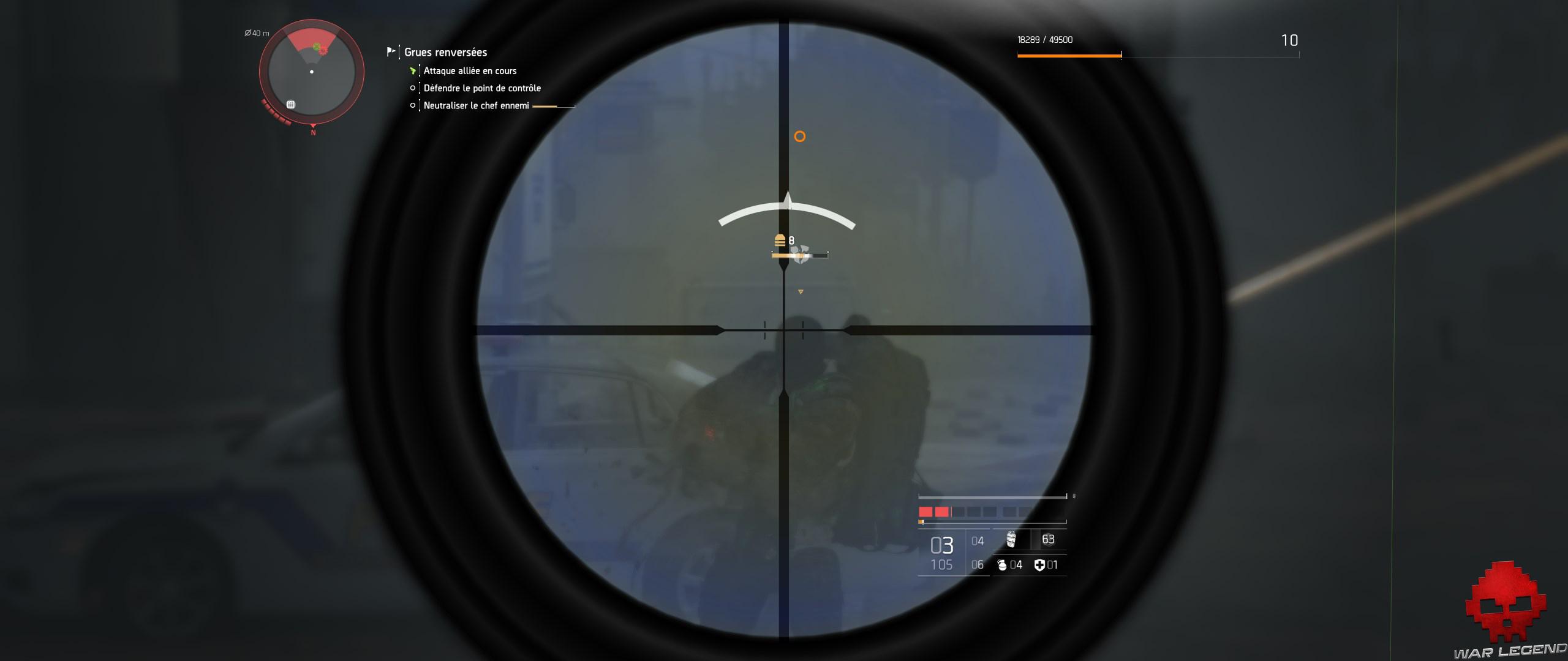 Test The Division 2 ennemi sans casque