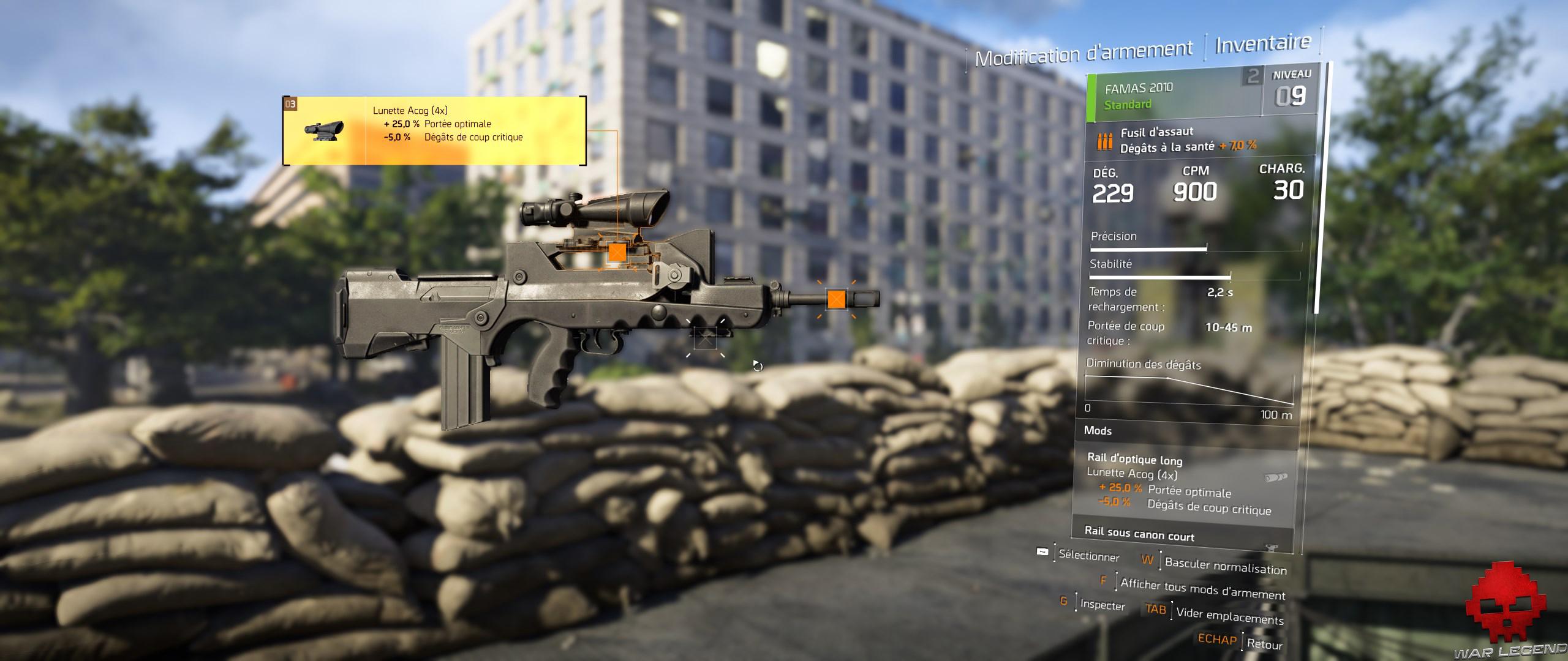 Test The Division 2 mod d'arme