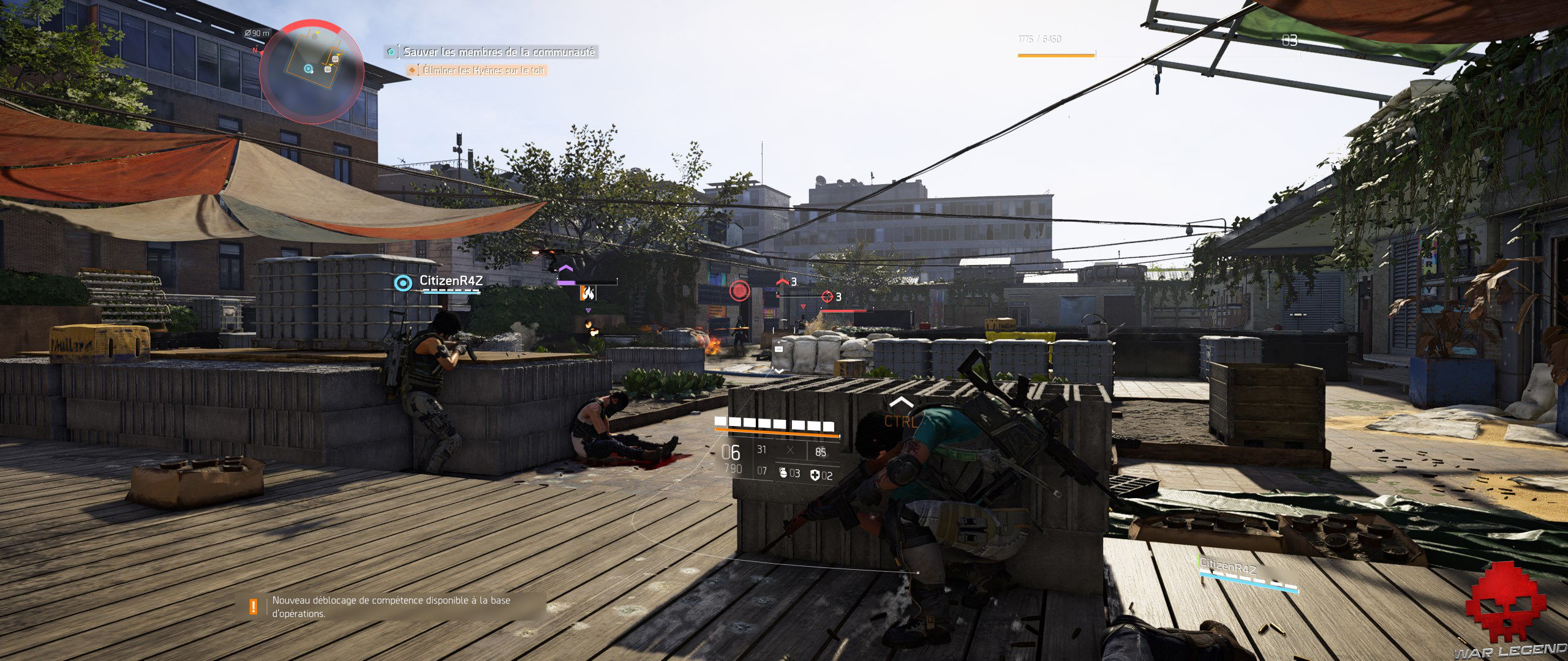 Test The Division 2 coopération