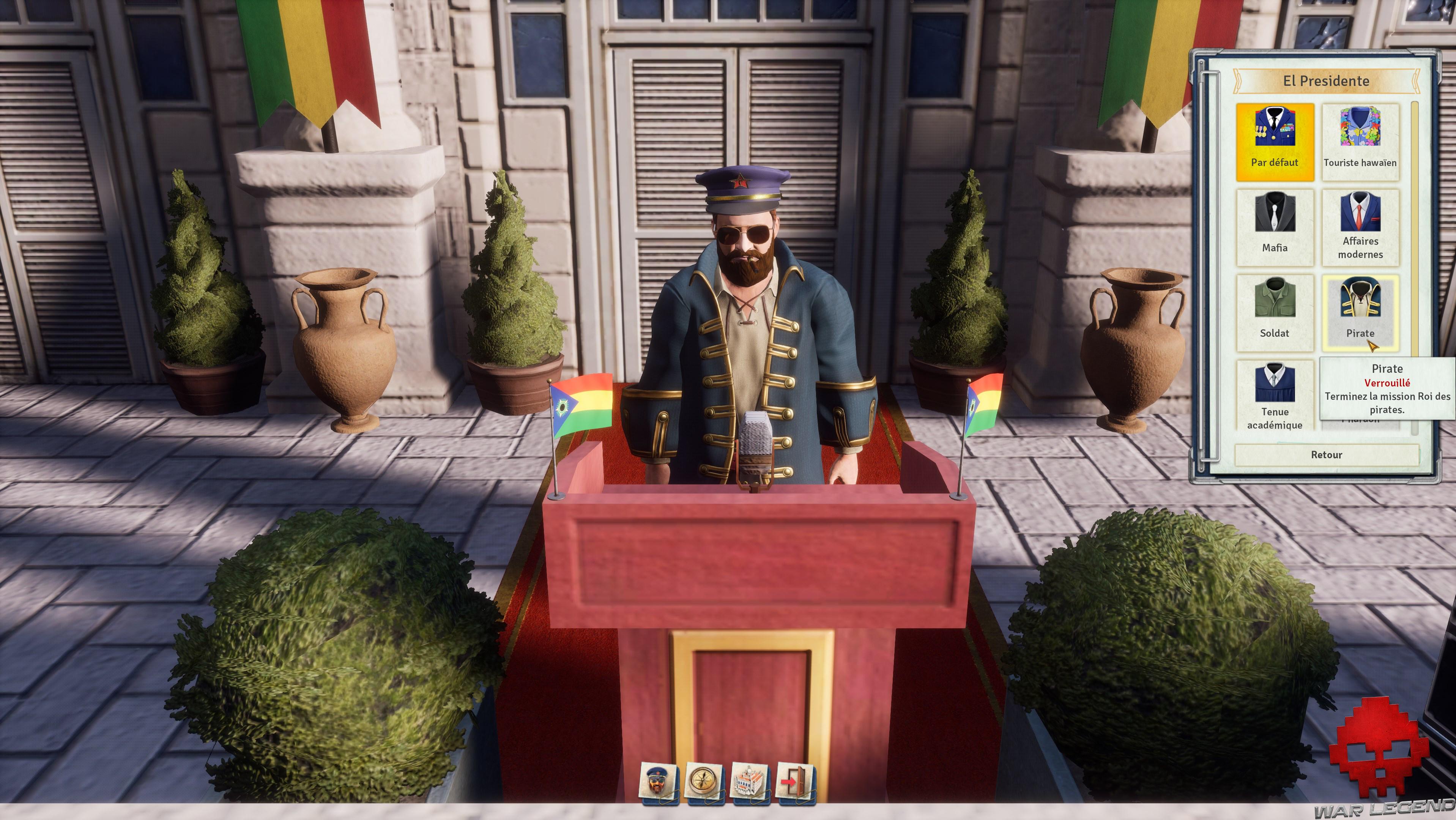 Test Tropico 6 customisation dictateur