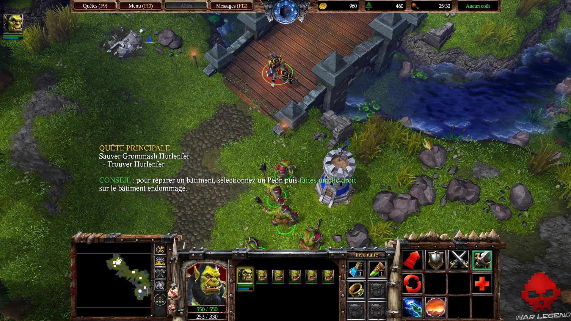 Test Warcraft III Reforged - interface