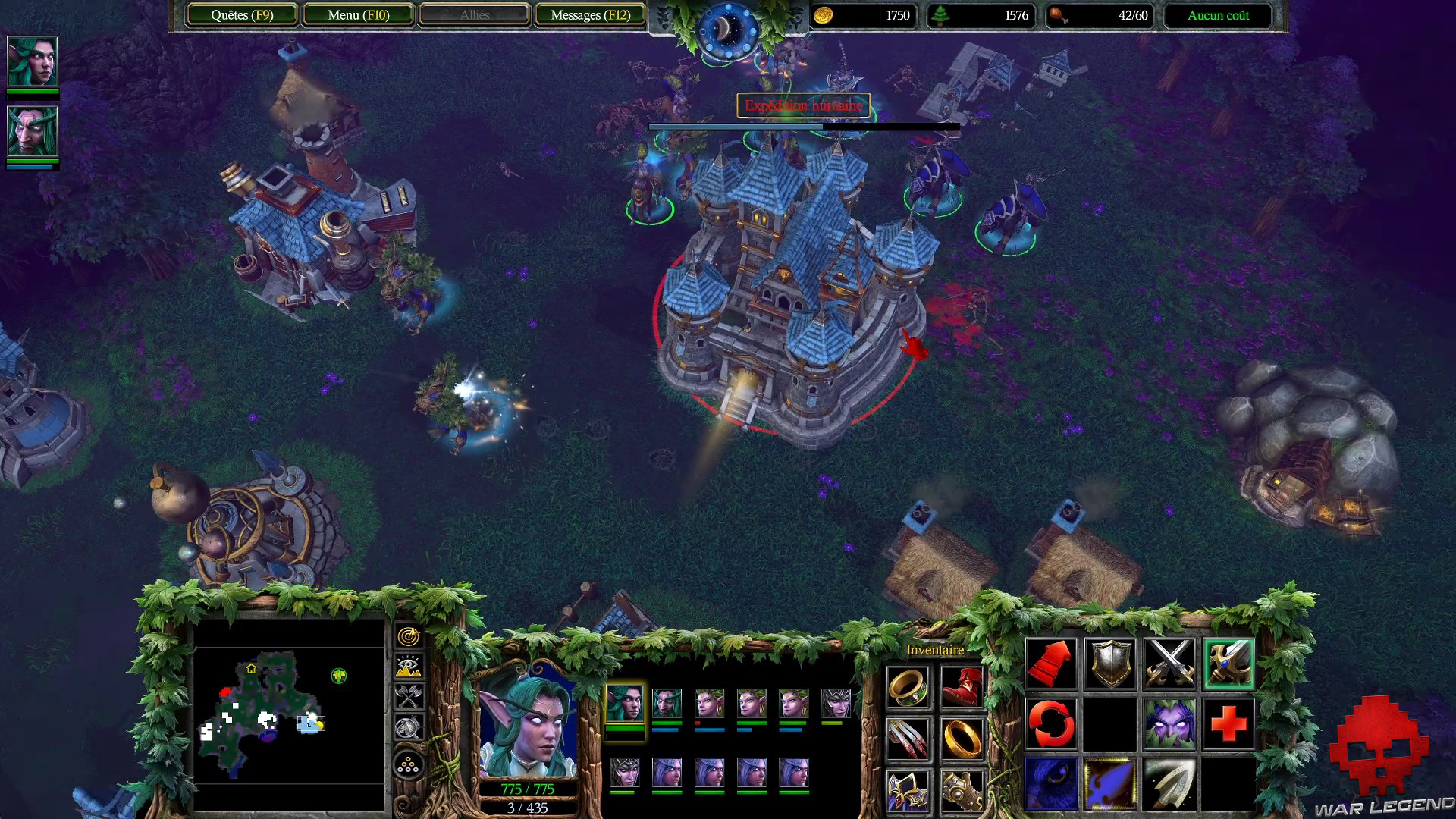 Test Warcraft III Reforged - attaque camp humain