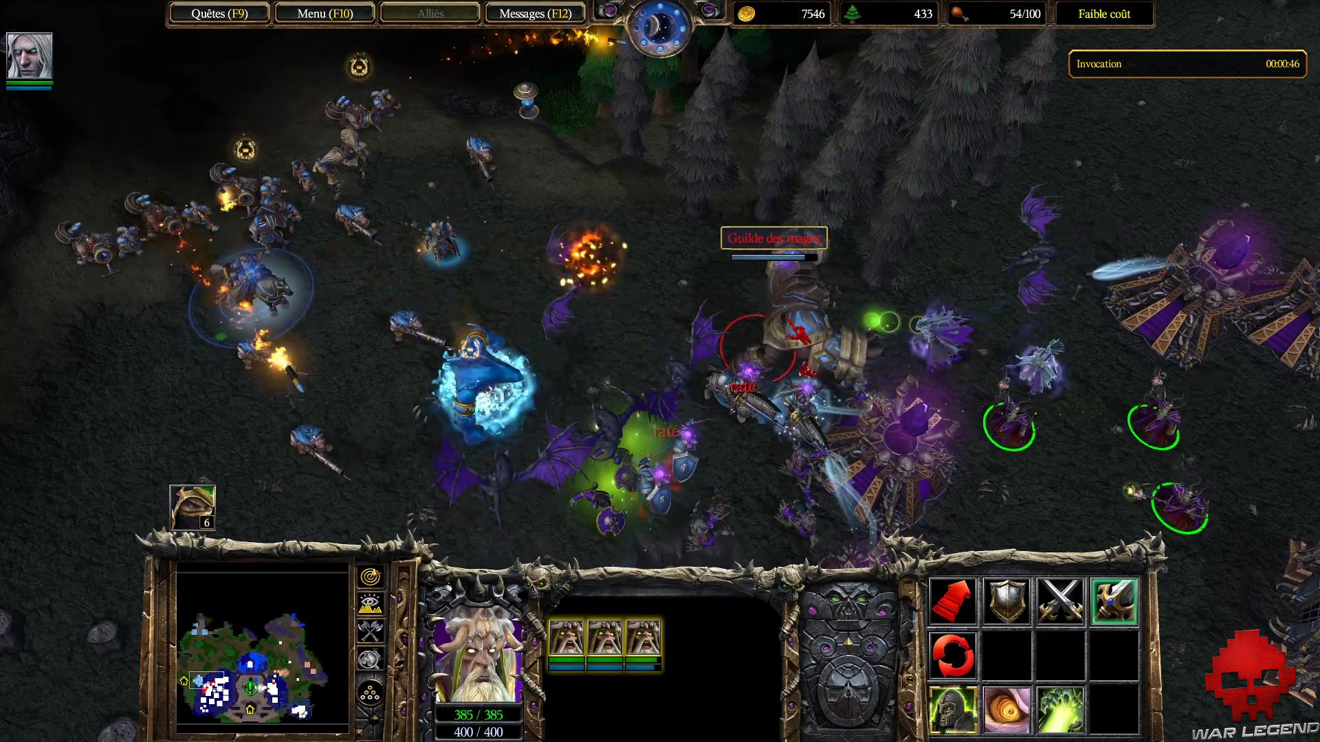 Test Warcraft III Reforged - Combat humains contre morts-vivants