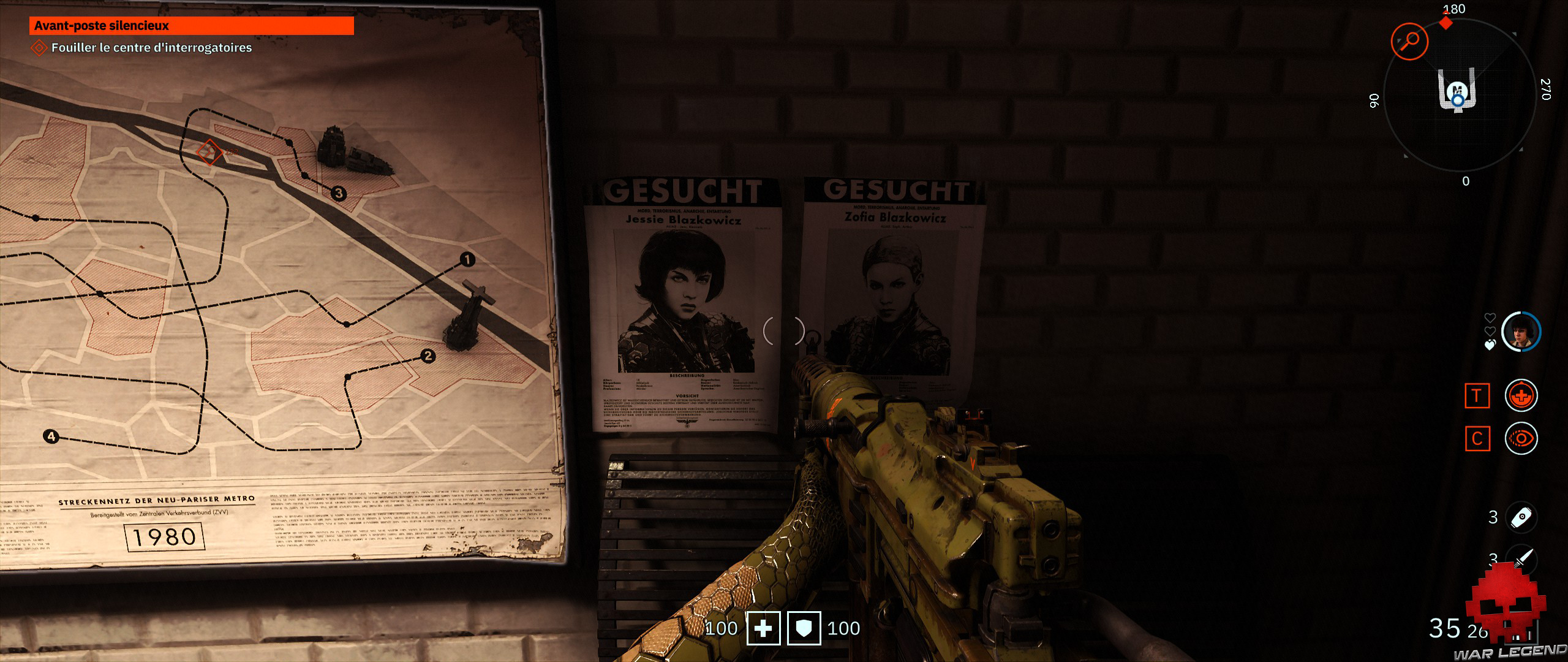 Test Wolfenstein Youngblood - avis de recherche Jessie et Zofia