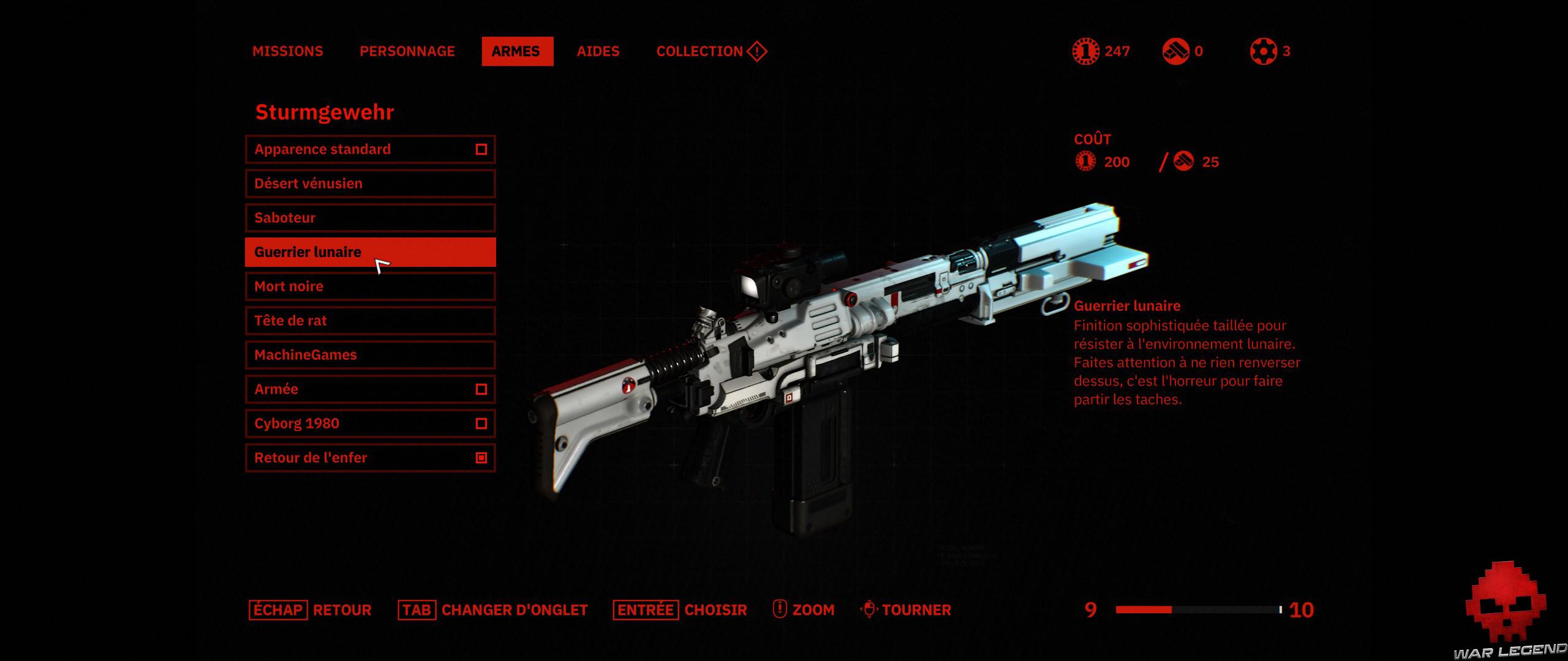 Test Wolfenstein Youngblood - customisation d'arme