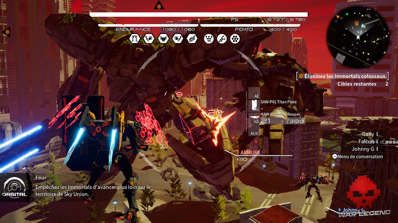 Test Daemon X Machina - Combat contre Immortal colossal