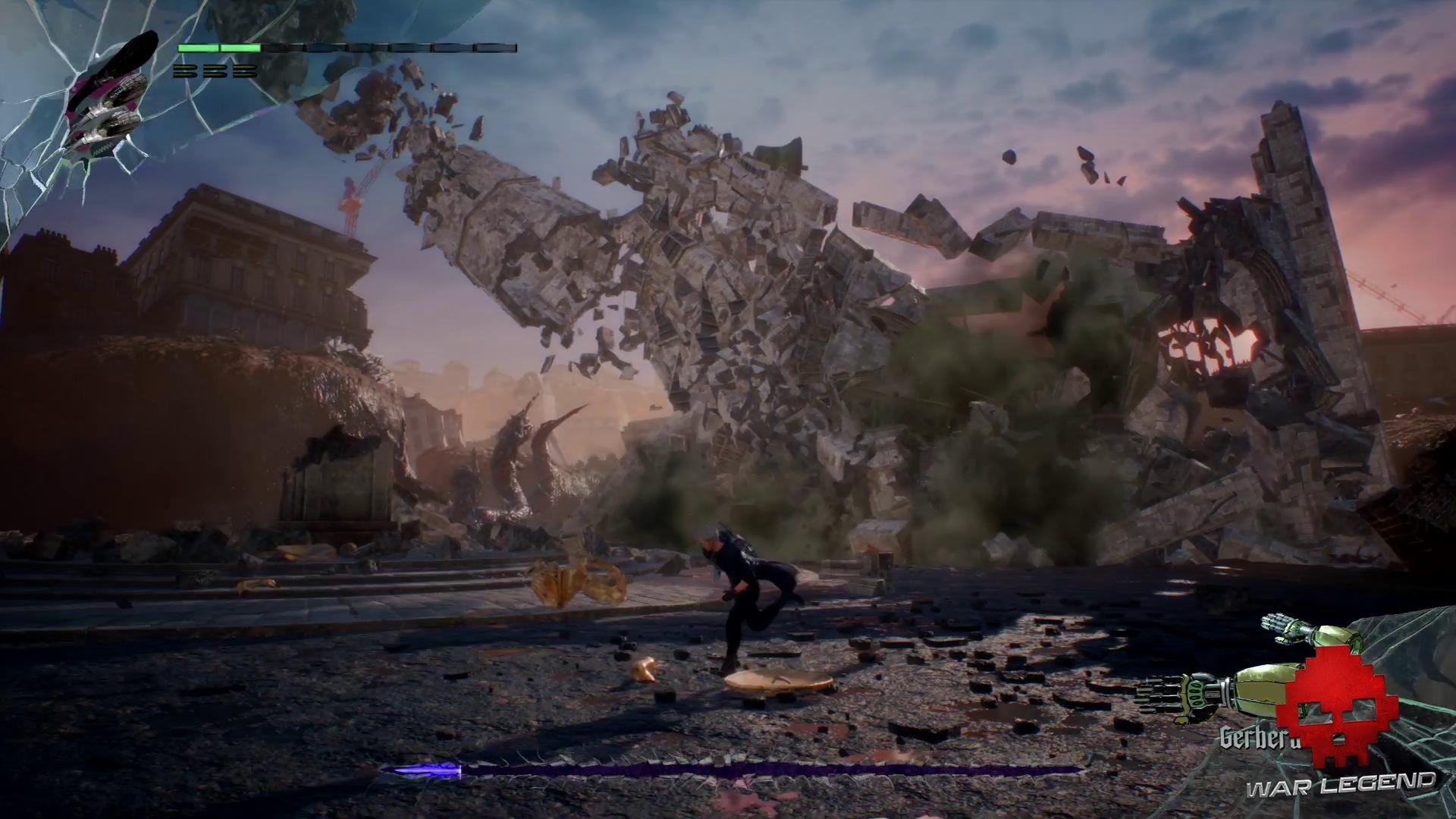 Test Devil May Cry 5 - Le décor s'écroule