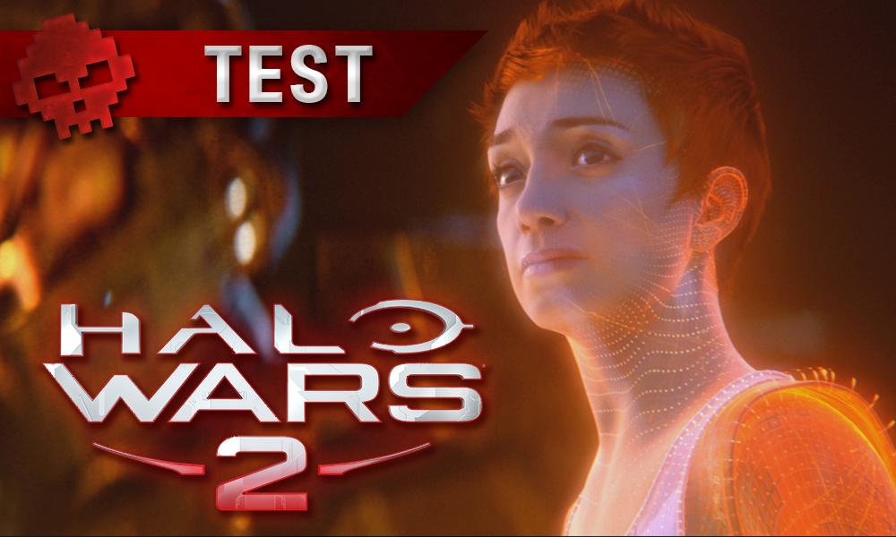 Test Halo Wars 2 - Master Chief est pas tout seul à s'amuser - Logo et personnage féminin de trois-quart