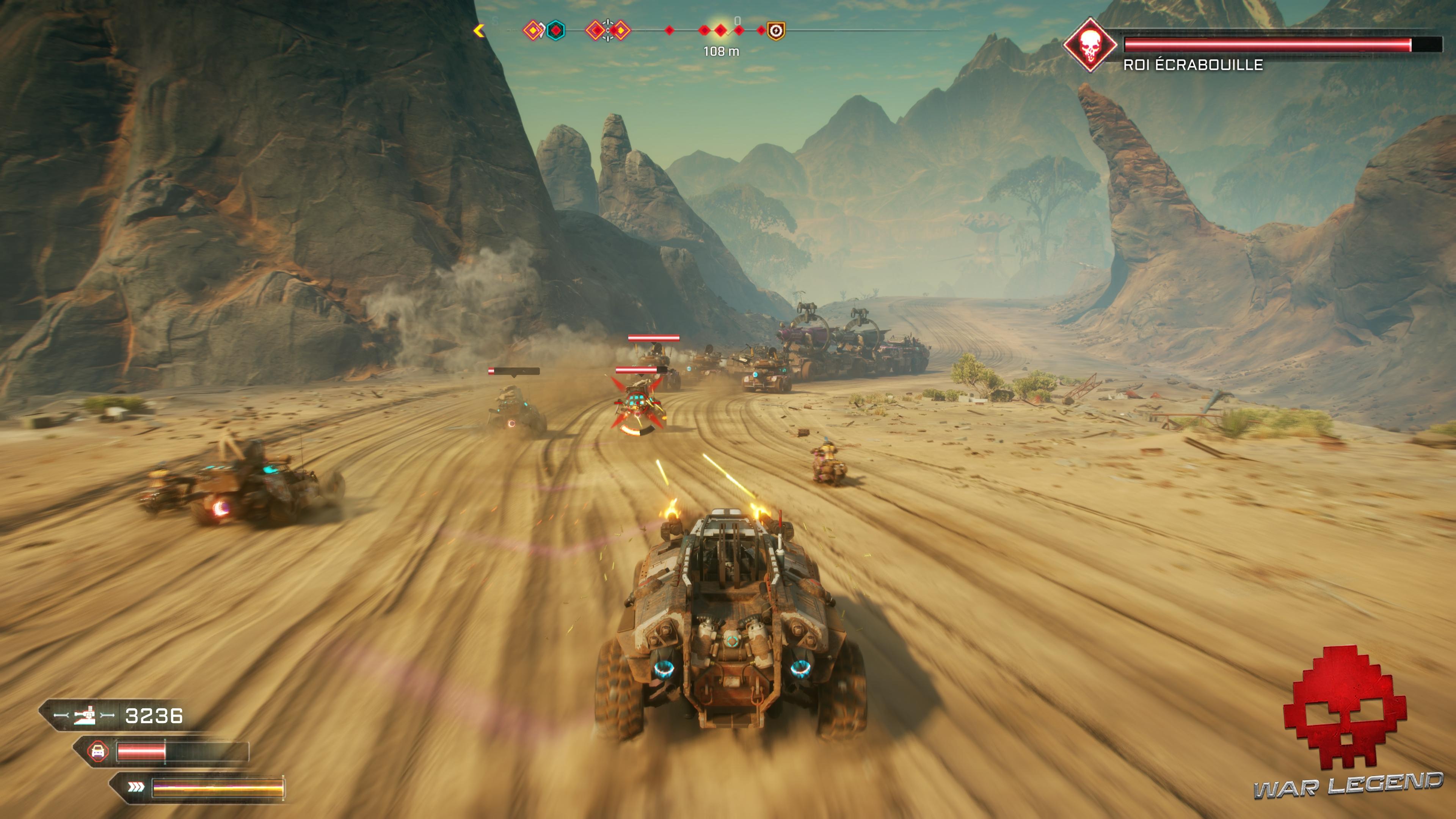 Test RAGE 2 - Course poursuite dans le désert