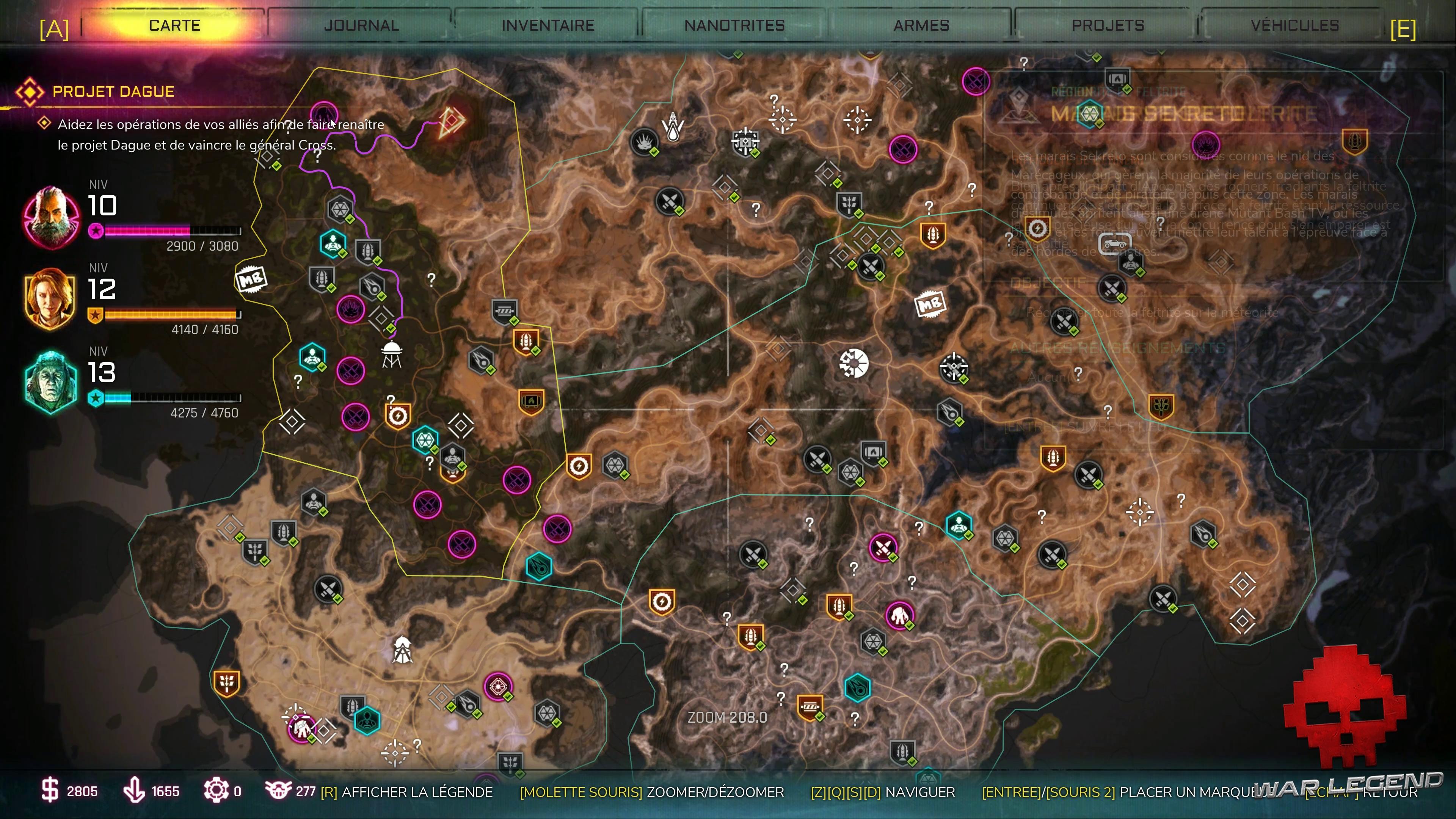 Test RAGE 2 - Carte du monde