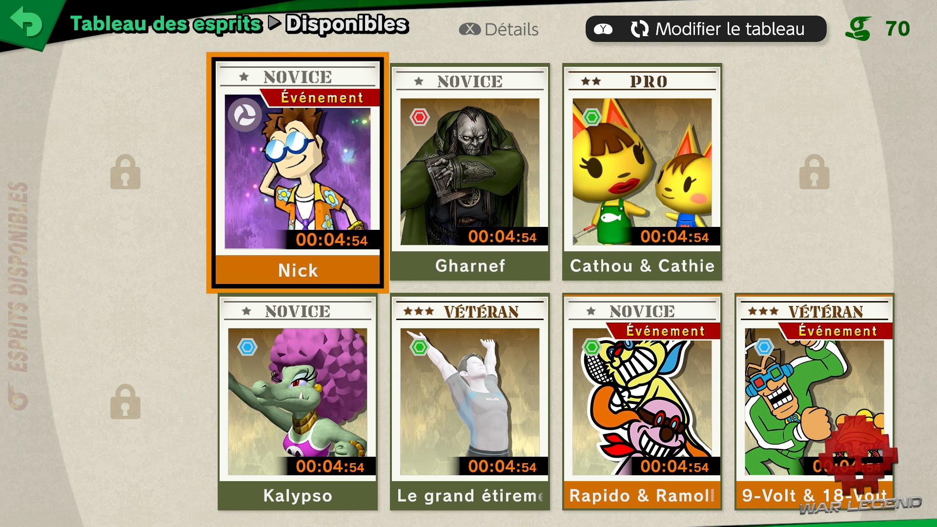 Test Super Smash Bros. Ultimate Tableau des Esprits