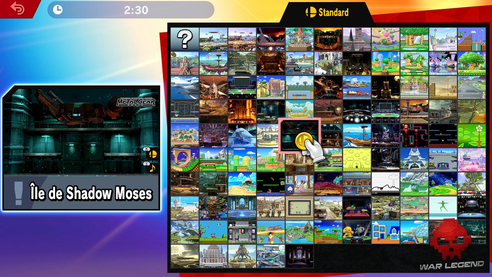 Test Super Smash Bros. Ultimate Sélection du stage