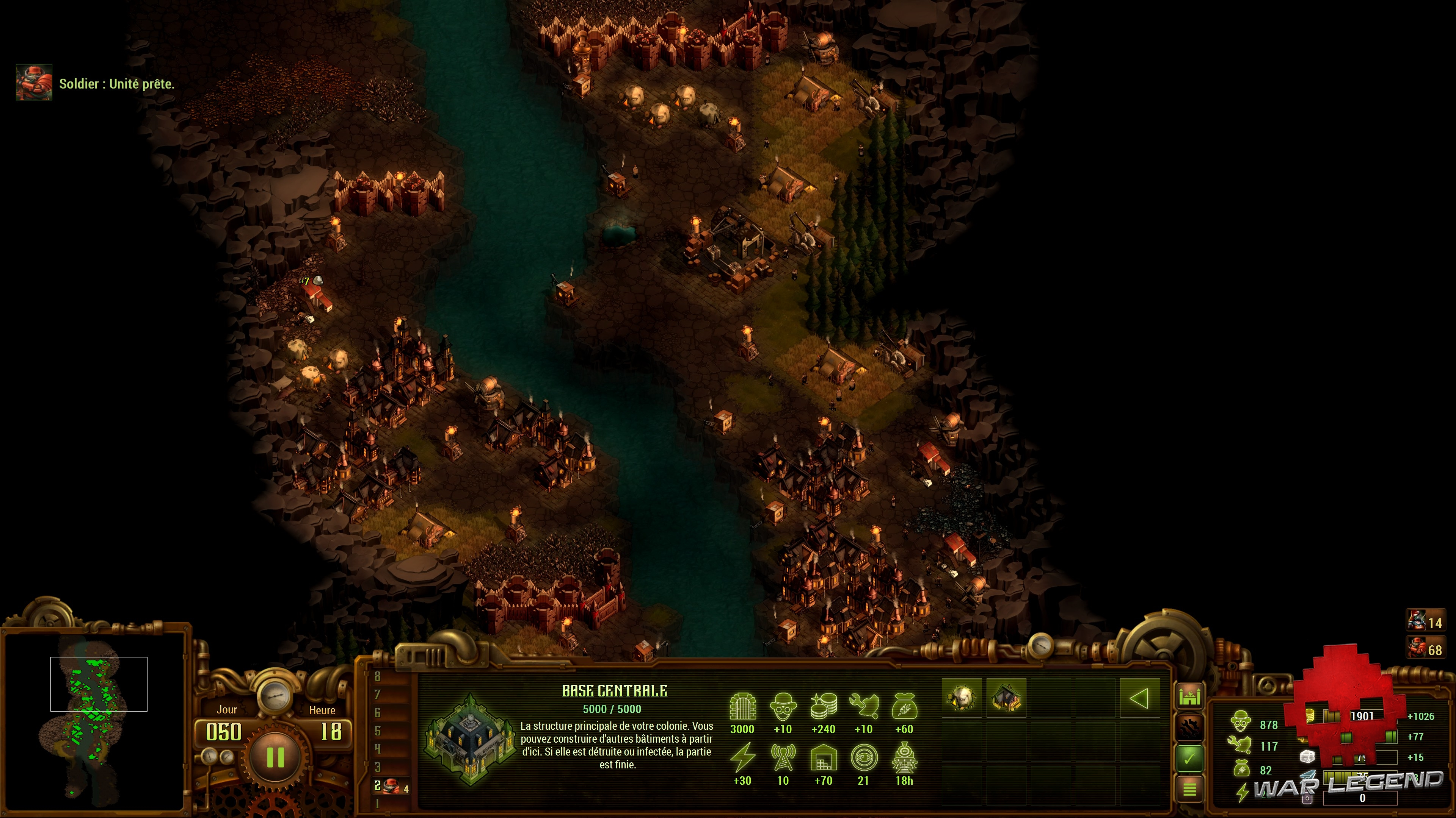 Test They Are Billions - Une carte tout en longueur