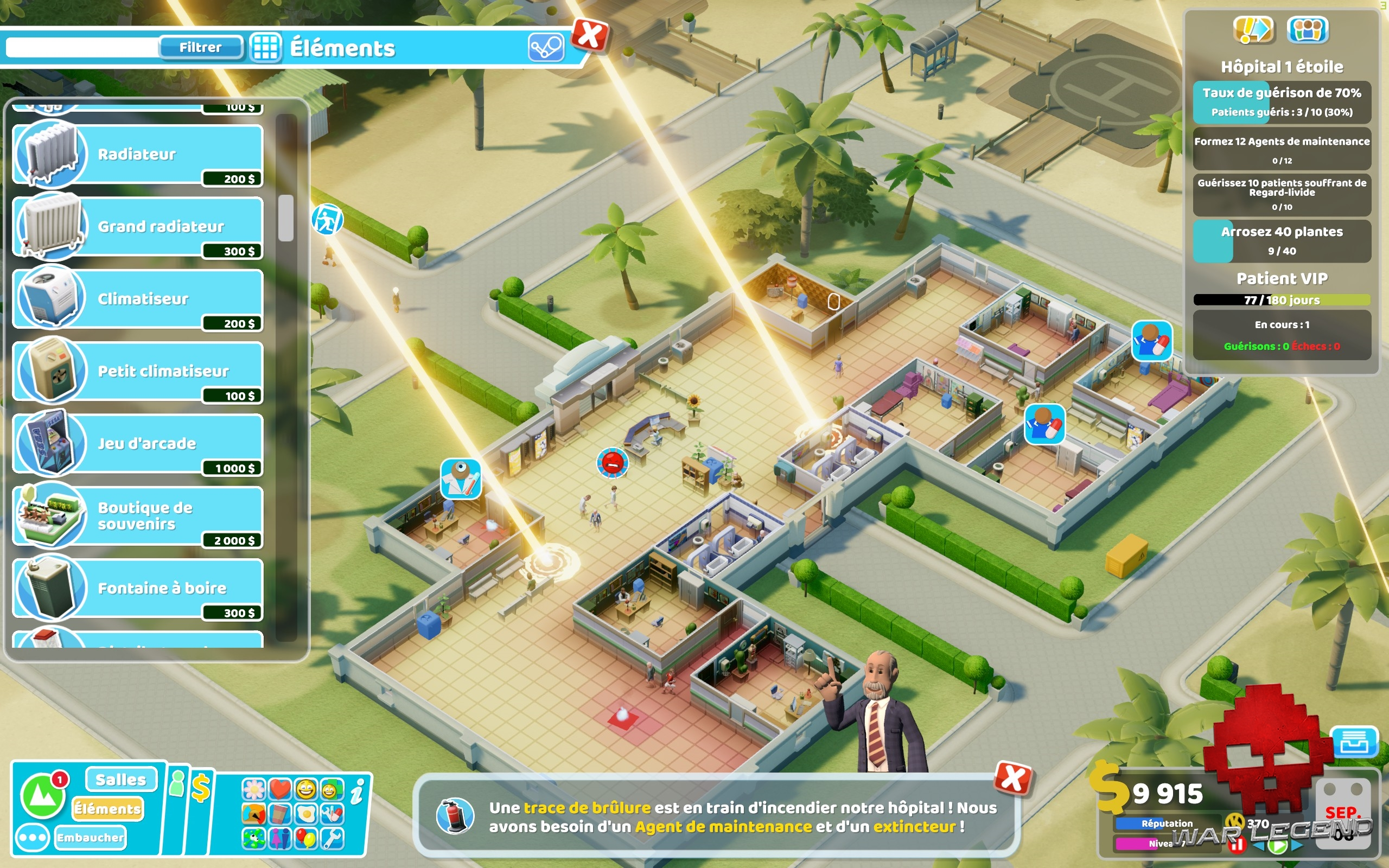 Test Two Point Hospital: Pebberley Island - Une tempêche solaire