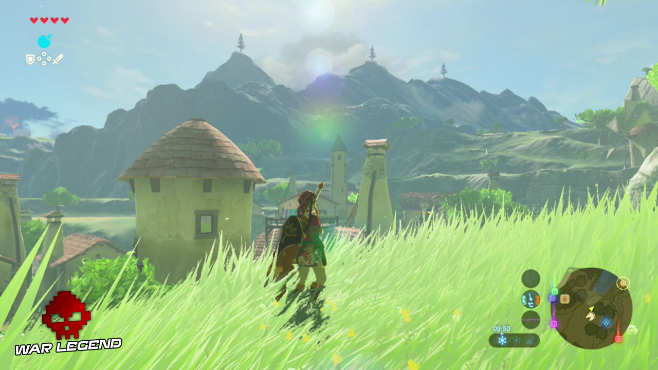 Test The Legend of Zelda: Breath of the Wild - Quand la modernité transcende la tradition montagnes