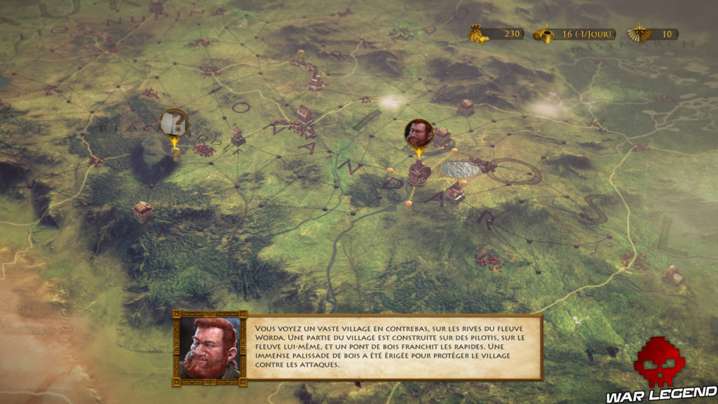 Test The Dwarves carte du monde narration