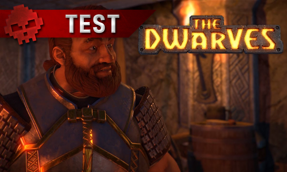 Test The Dwarves héros et logo du jeu
