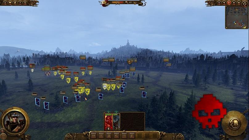 Voici un aperçu de la bataille du didacticiel ainsi qu'une belle vue sur Altdorf, capitale de l'Empire