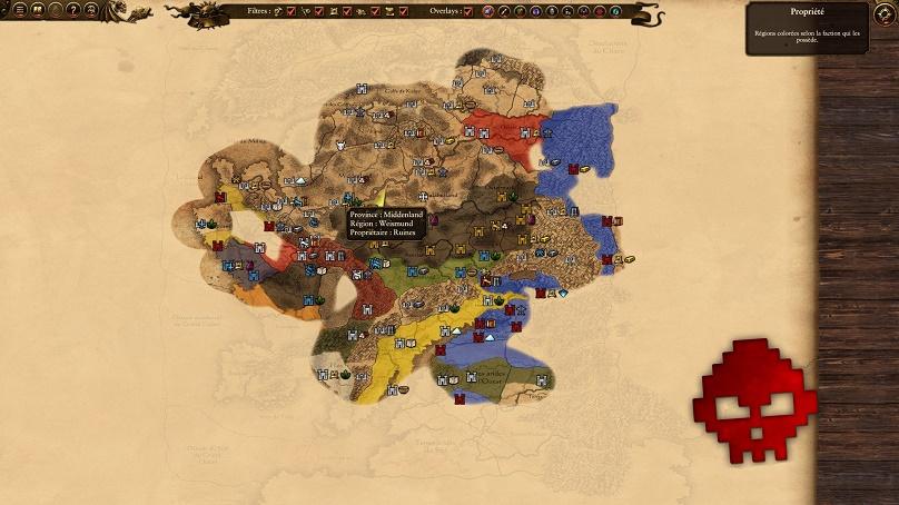 Voilà à quoi ressemble la carte de l'une de mes campagnes après une centaine de tour