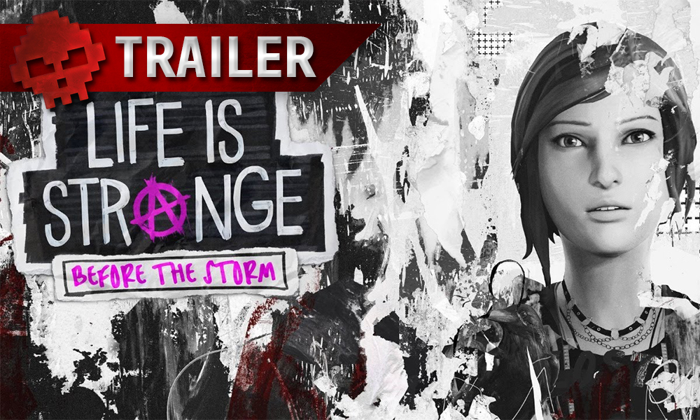 bandeau trailer life is strange before the storm, chloe price à droite de l'image