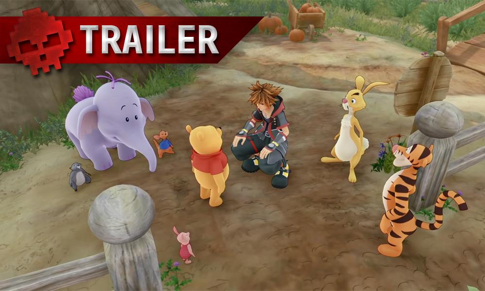 vignette trailer - kingdom hearts 3, Sora en compagnie de winnie l'ourson