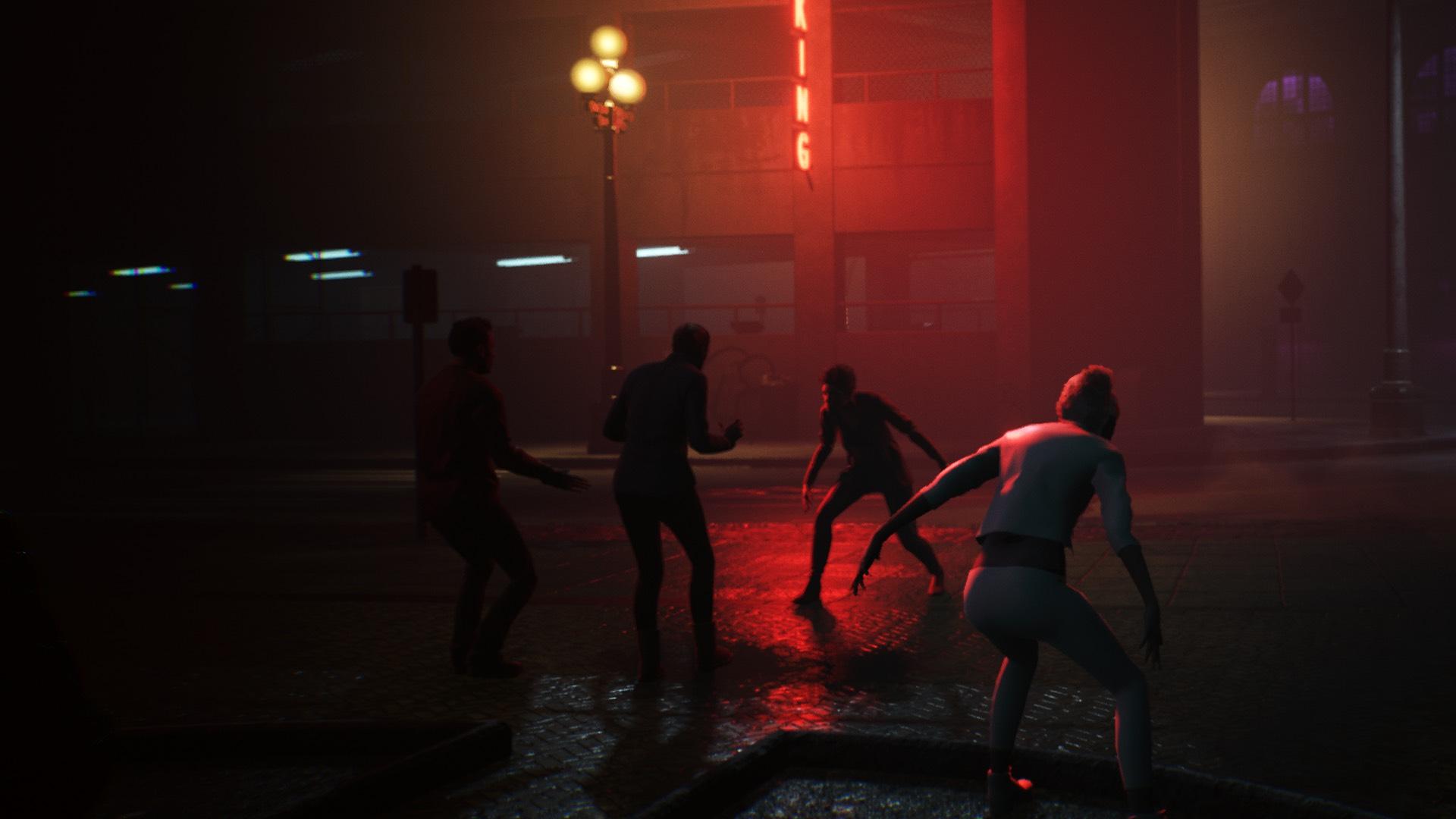 Combat dans une ruelle sombre
