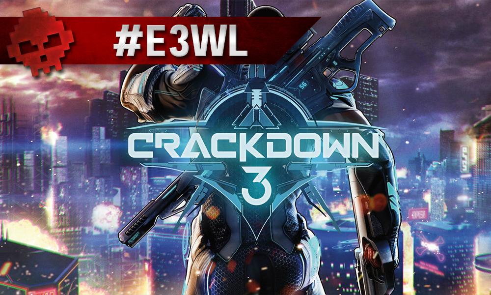 Logo Crackdown 3, soldat de dos