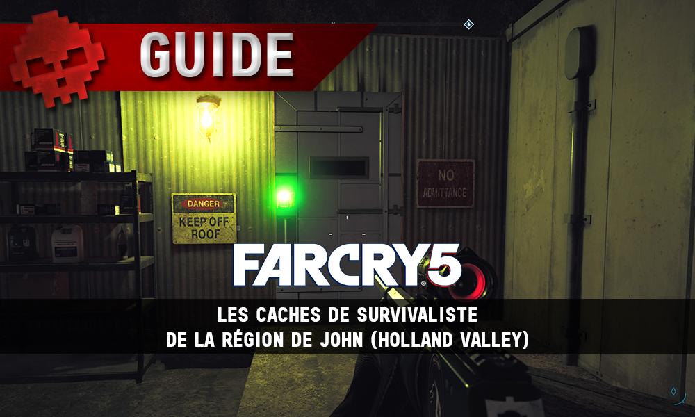 Vignette caches de survivaliste Far Cry 5 John