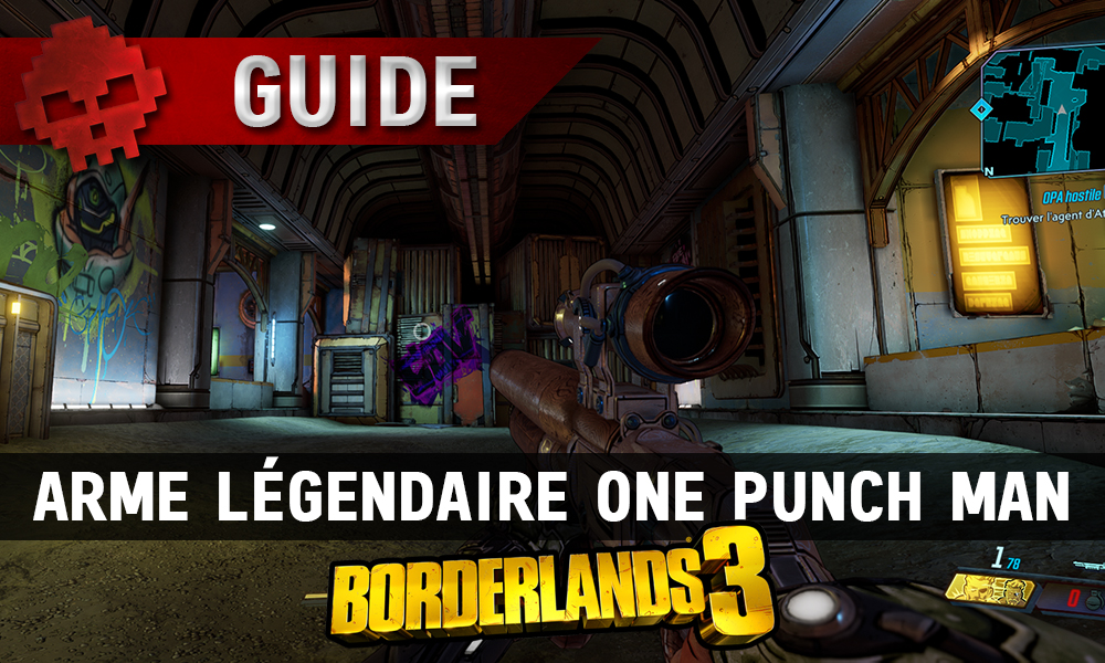 Vignette guide borderlands 3 arme légendaire one punch man