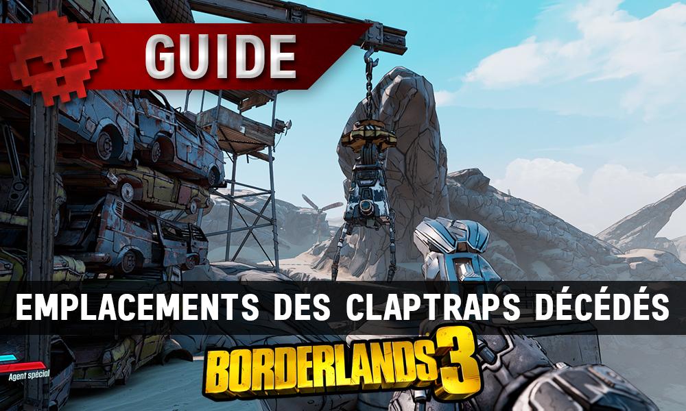 Vignette guide borderlands 3 emplacements des claptraps décédés