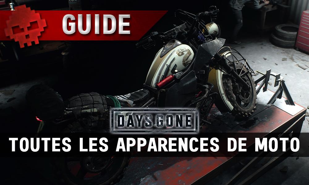 Vignette guide days gone toutes les apparences de moto