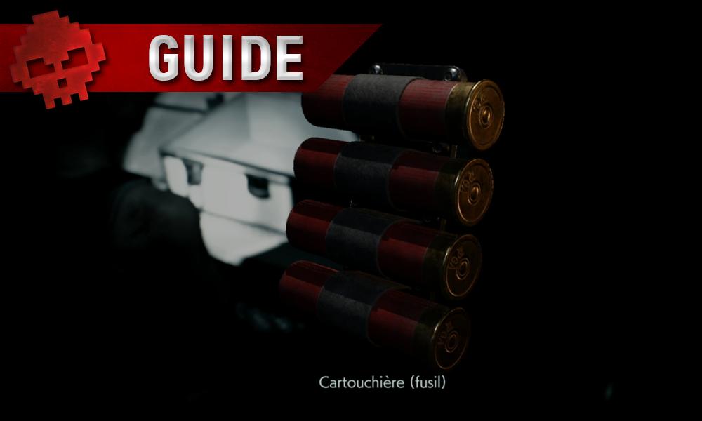 Vignette guide resident evil 3 cartouchière
