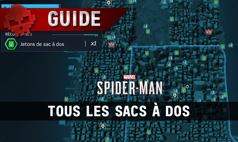 Vignette guide tous les sacs à dos spider-man