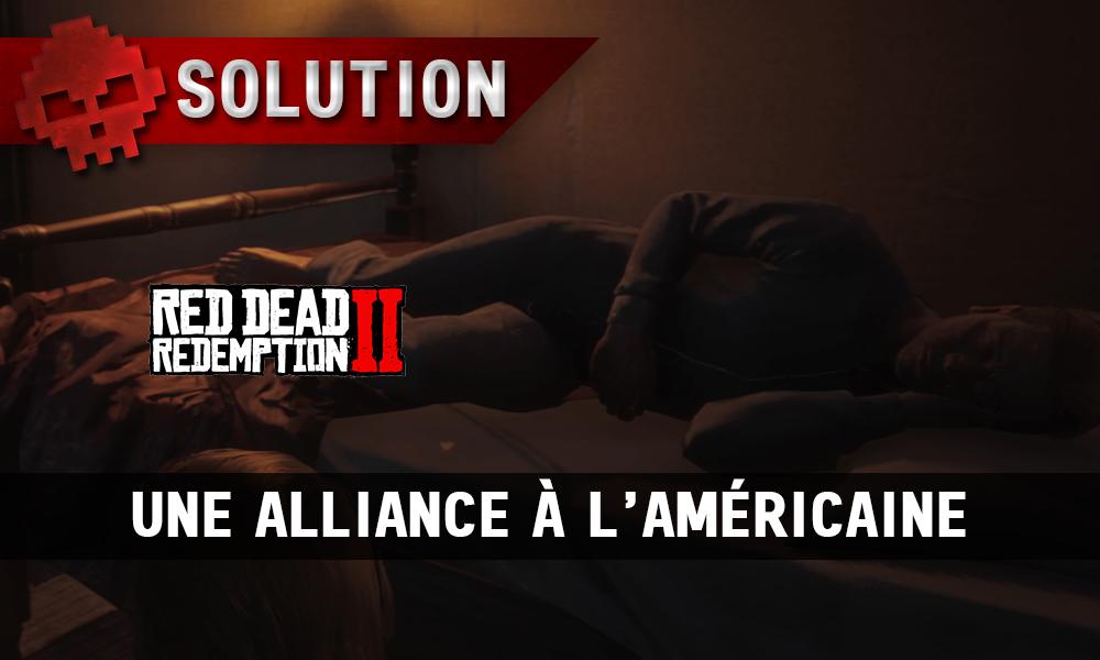 Vignette soluce red dead redemption 2 une alliance à l'américaine