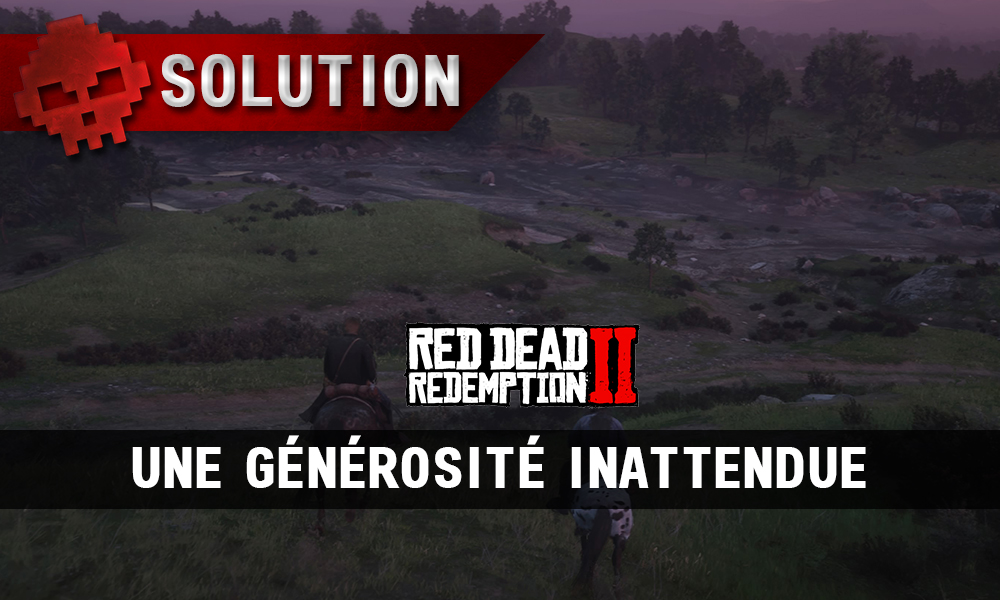 Vignette soluce red dead redemption 2 une générosité inattendue