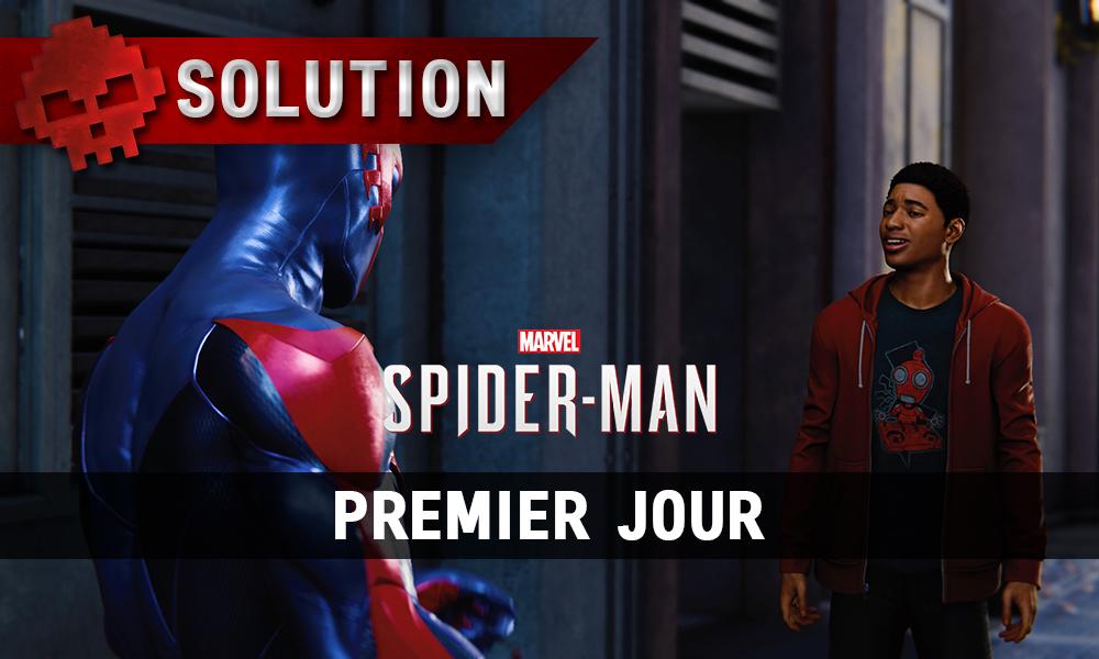Vignette soluce spider-man premier jour