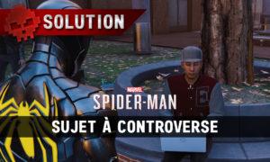 Vignette soluce spider-man sujet à controverse