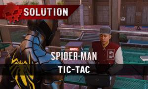 Vignette soluce spider-man tic-tac