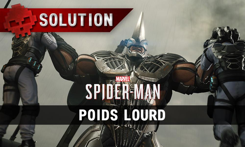 Vignette solution Spider-Man poids lourd
