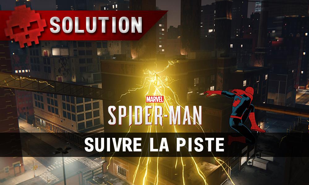 Vignette solution Spider-Man suivre la piste