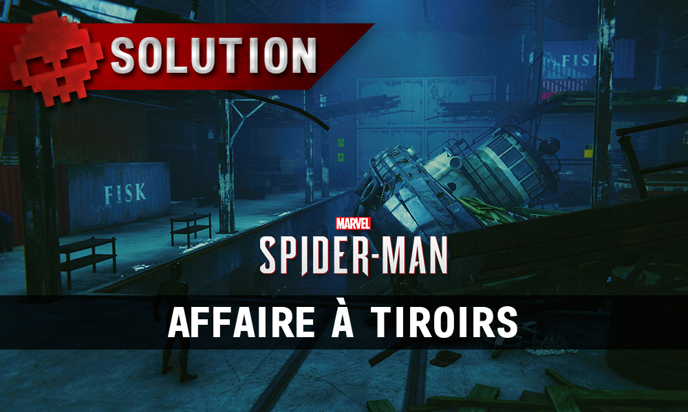 Vignette solution spider-man affaire à tiroirs